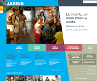Conception du nouveau site de la commune. Webdesign original. Adaptation responsive.